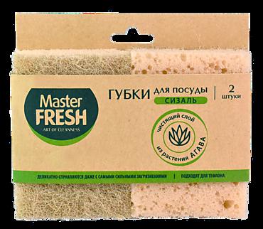 Губки для мытья посуды «Master Fresh» Eco Line, 2 шт