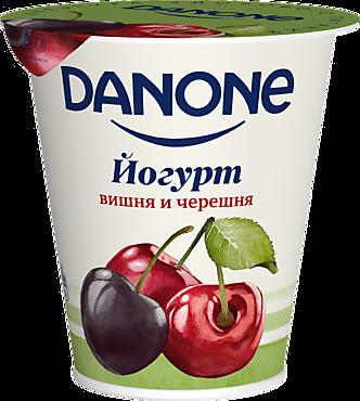 Йогурт 2.8% «Danone» Вишня-черешня, 260г