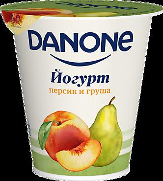 Йогурт 2.8% «Danone» Персик-груша, 260г