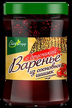 Варенье «BioNergy» из сосновых шишек с брусникой, 300г