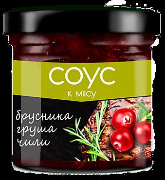 Соус «Сибирская Ягода» брусничный с грушей и чили, 100г