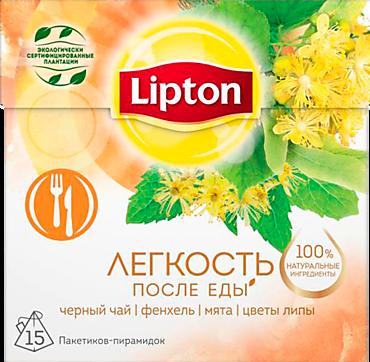 Чай черный «Lipton» Фенхель, мята и цветы липы, 15 пакетиков