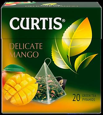 Чай зеленый «Curtis» Delicate Mango, 20 пирамидок