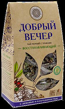 Чай черный «Фабрика здоровых продуктов» Добрый вечер, восстанавливающий, 75г