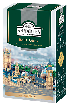 Чай черный «Ahmad Tea» с бергамотом, 100г
