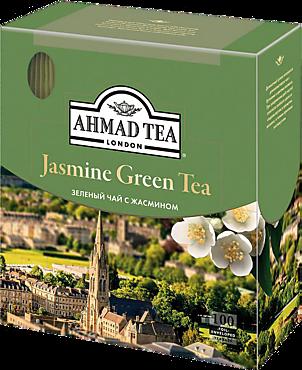 Чай зеленый «Ahmad Tea» Жасмин, 100 пакетиков