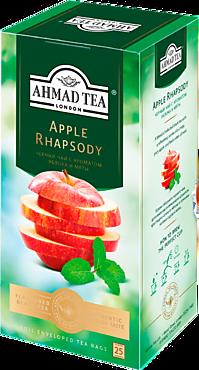 Чай черный «Ahmad Tea» с ароматом яблока и мяты, 25 пакетиков