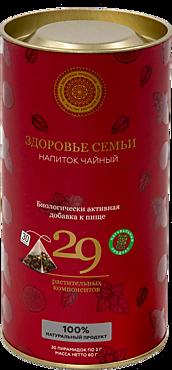 Чай черный «Фабрика здоровых продуктов» Здоровье семьи, 30 пирамидок