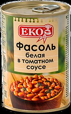 Фасоль белая «EKO» в томатном соусе, 400г