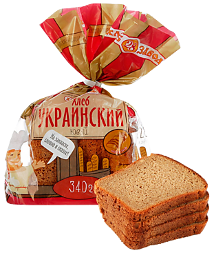 Хлеб «Хлебозавод №28» Украинский новый, в нарезке, 340г