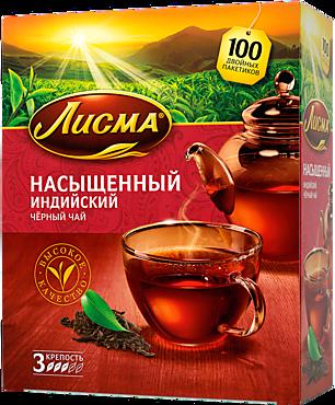 Чай черный «Лисма» Насыщенный, 100 пакетиков, 180г