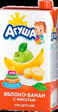 Сок «Агуша» Яблоко-банан, 500мл