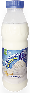 Коктейль молочный 2.5% «Томское молоко» Пломбир, 500г