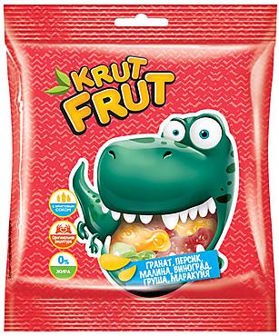 «КрутФрут», мармелад жевательный в форме динозавриков, 70г