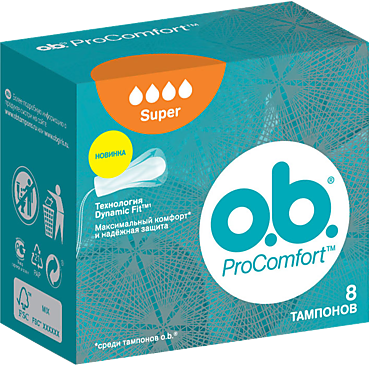 Тампоны «O.B.» Pro Comfort супер, 8шт