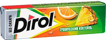 Жевательная резинка «Dirol» Тропический коктейль, 13г