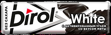 Жевательная резинка «Dirol» White с активированным углем и вкусом мяты, 13г