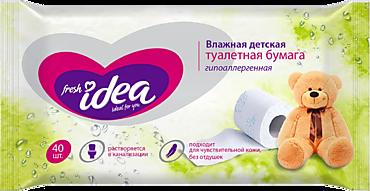 Туалетная бумага влажная «Fresh Idea» детская, 40шт