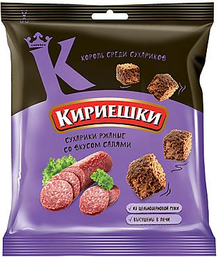«Кириешки», сухарики со вкусом салями, 40г