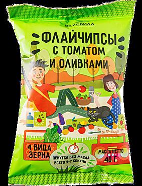 Флайчипсы зерновые «ВкусВилл» с томатом и оливками, 40г