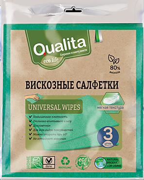 Салфетки «Qualita» вискозные «Ecolife» 3шт
