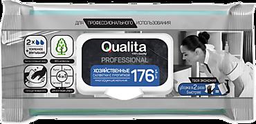 Влажные салфетки «Qualita» хозяйственные, с пропиткой, 176шт