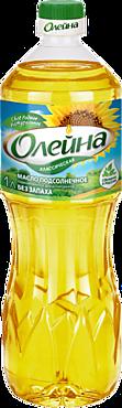 Масло подсолнечное «Олейна» рафинированное дезодорированное, 1л