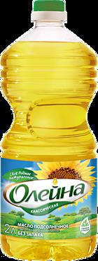 Масло подсолнечное «Олейна» рафинированное дезодорированное, 2л