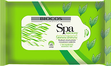 Влажные салфетки «BioCos» SPA Harmony, 15шт