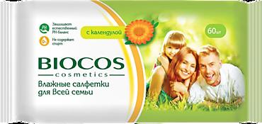 Влажные салфетки «BioCos» с календулой, 60шт