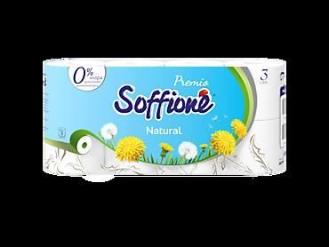 Туалетная бумага трехслойная «Soffione» Premio natural, 8 рулонов