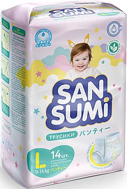 Трусики-подгузники, размер L (9-14 kg) «Sansumi», 548г