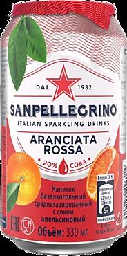 Напиток газированный «Sanpellegrino» с соком красного апельсина, 330мл