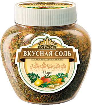 Соль «Вкусная соль» с чесноком и зеленью, 400г