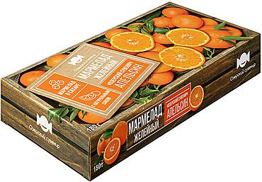 «Озёрский сувенир», мармелад «Апельсин», желейный, в виде кубиков, 180г