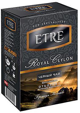 «ETRE», royal Ceylon чай черный цейлонский отборный крупнолистовой, 100г