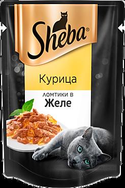 Влажный корм для кошек «Sheba» ломтики с курицей в желе, 85г