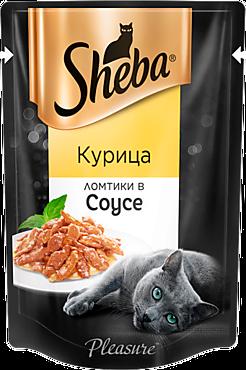 Влажный корм для кошек «Sheba» ломтики с курицей в соусе, 85г