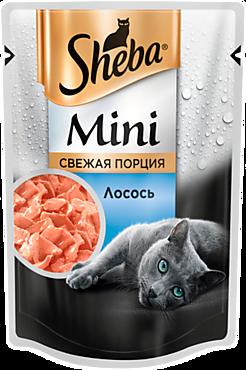 Влажный корм для кошек «Sheba» Mini Свежая порция, с лососем, 50г