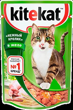 Влажный корм для кошек «Kitekat» «Нежный кролик» в желе, 85г