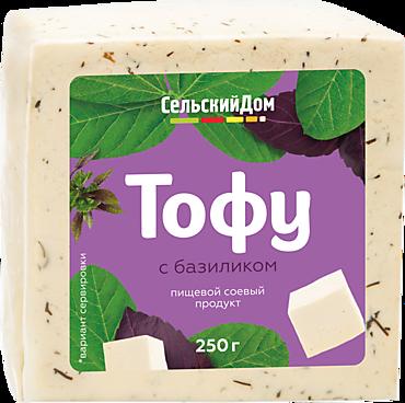 Продукт соевый тофу «Сельский дом» с базиликом, 250г