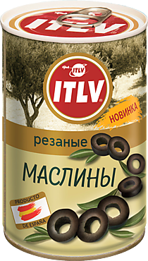 Маслины «ITLV» резаные, 314мл