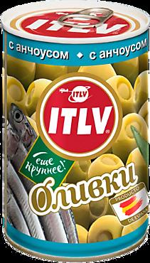 Оливки «ITLV» с анчоусом, 314мл