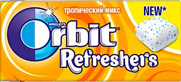 Жевательная резинка «Orbit» Рефреш Тропический микс, 16г
