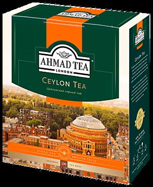 Чай черный «Ahmad Tea» Цейлонский, 100 пакетиков