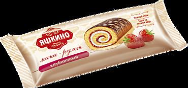 Мини-рулет «Яшкино» Клубничный, 35г