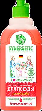 Средство для мытья посуды «SYNERGETIC» Арбуз, 500мл