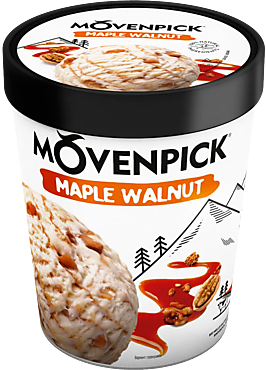 Мороженое «Movenpick» кленовый сироп и грецкий орех, 480мл