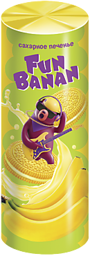 Печенье-сэндвич «FunBanan» с банановым вкусом, 220г
