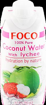 Кокосовая вода «FOCO» с соком личи, 330мл